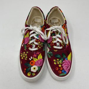 Keds 8.5 Rifle Paper Co Sneakers Floral Print